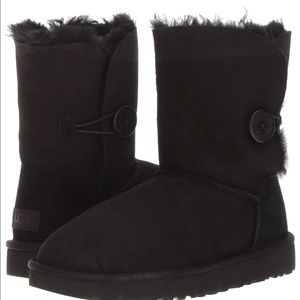 UGG women's Bailey button boots in black